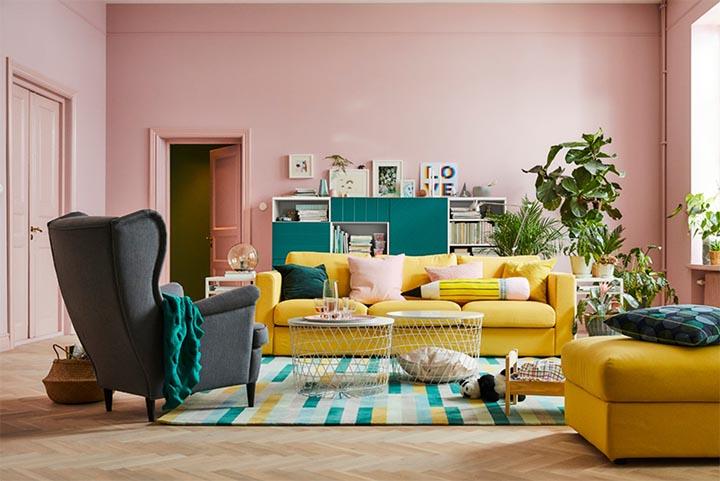 Rosa väggar och rosa möbler ikea