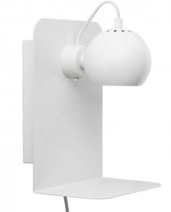 Ball vägglampa med USB (Vit)
