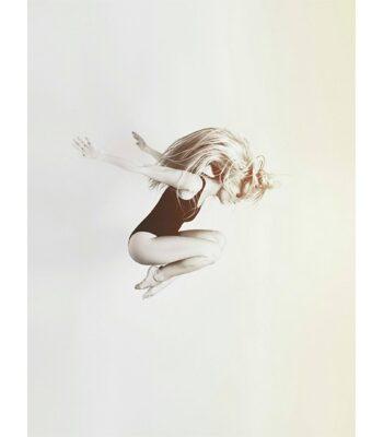 Ballerina on White poster, 50x70