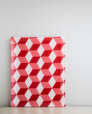 Bricka Kub Röd 46x36cm