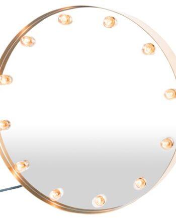 Cirkuslampan spegel - Mässing