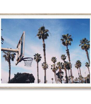 Cities of basketball 02, LA poster 30x40