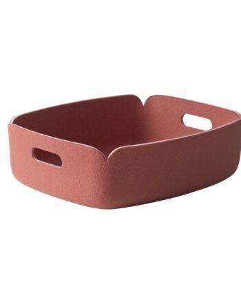 Designtorget Bricka Restore Filt rosa