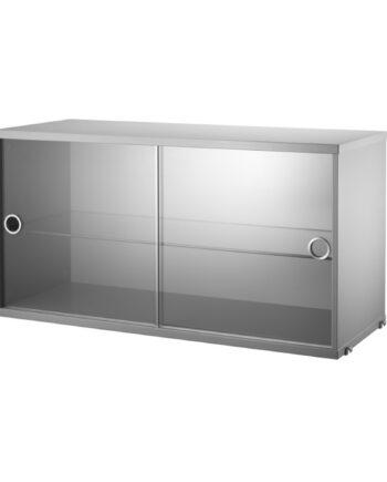 Designtorget Vitrinskåp 78x30x42 grå