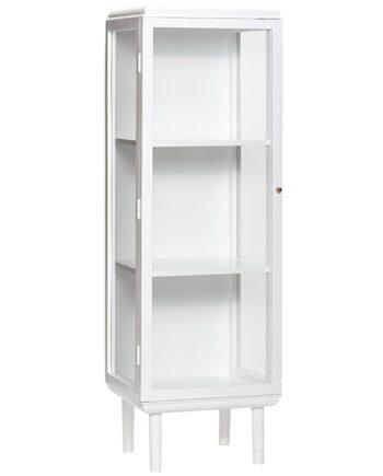 Hübsch vitrinskåp, vit