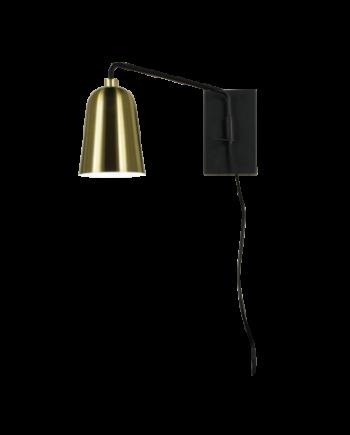 Kopp vägglampa (Mässing/guld)