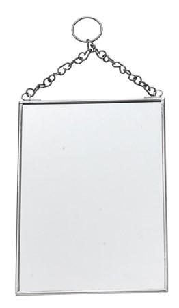 Madam Stoltz Hängande spegel 13x18 cm - Silver