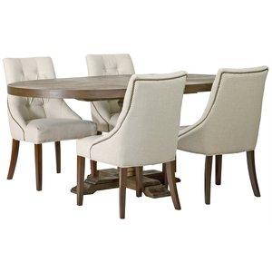 Matgrupp: Lamier matbord runt - brun + 4 st Tuva europa ver II stolar