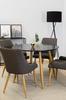 Matgrupp Plaza med bord och 4 stolar