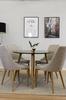Matgrupp med Plaza bord och 4 st Leone stolar