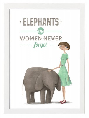 OUTLET - Poster - Elephants and women