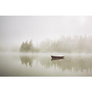 Poster Båt i dimma