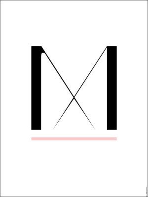 Poster - Type::M 50x70 cm