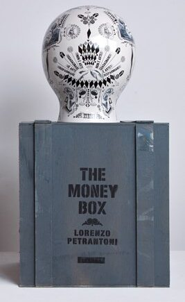 SELETTI The money box porslin handmade serigraphy