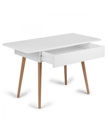 Skrivbord vitt trä, Troll