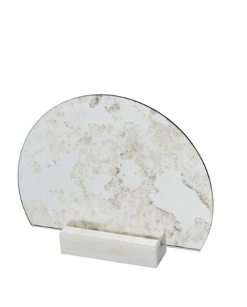 Spegel Half Moon Marmor Antik