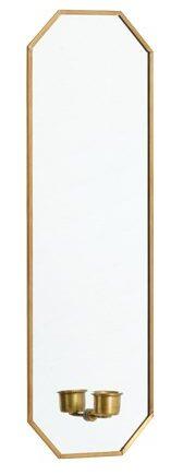 Spegel med ljusstake 38x13 cm Guld