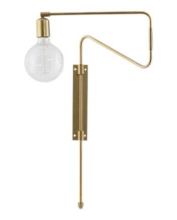 Swing Vägglampa 35 cm Mässing