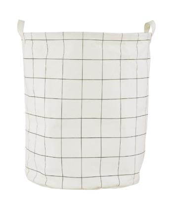 Tvättkorg Ø 40 Squares h:50 cm, House Doctor