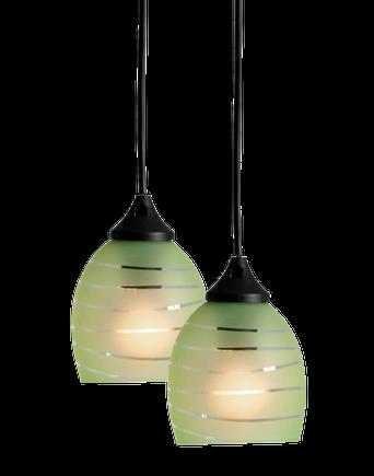 VÅG fönsterlampa 2-pack Grön