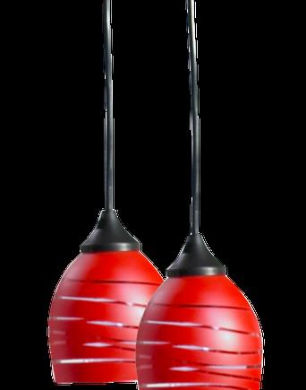 VÅG fönsterlampa 2-pack Röd