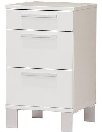 Zebra collection Alba 3 lådor sängbord – Vitlackerad