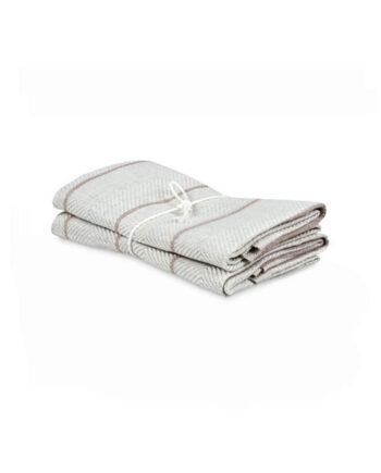 Handduk Marulk natur-brun 2-pack