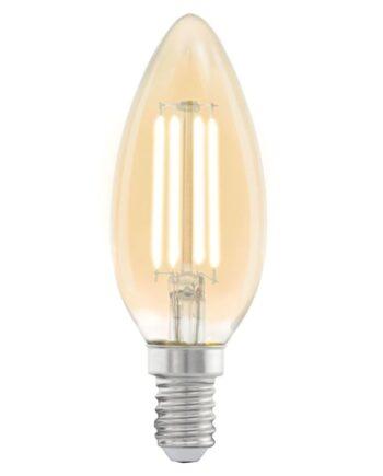 EGLO Vintage LED Glödlampa E14 C37 Amber