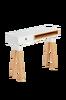 Avlastningsbord STICK 120x84 ask/matt vitlackerat