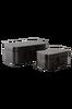 SMILLA förvaringsbox 2-pack Svart