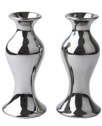 KJ Collection Vas Keramik Silver 13 cm