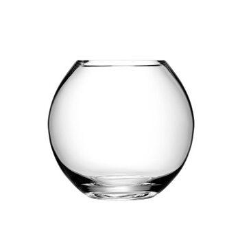 LSA International Flower vas round klar 22 cm