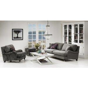 Howard Grizzly 3-sits soffa rak modell 214 cm - Valfri färg!