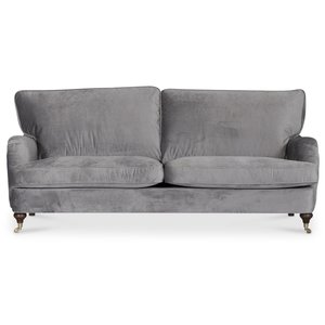 Howard Watford deluxe 3-sits soffa - Grå sammet