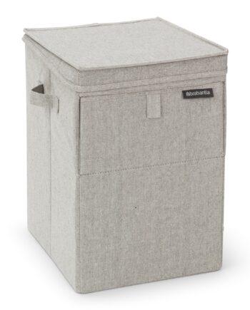 Brabantia stapelbar tvättkorg 35 liter Ljusgrå