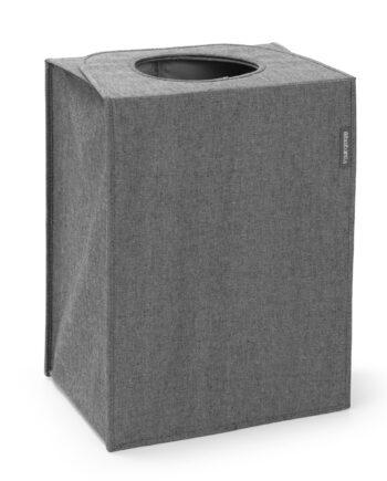 Brabantia tvättkorg tyg rektangulär 55 liter Mörkgrå