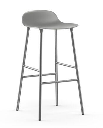 Form barstol metallben 75 cm grå