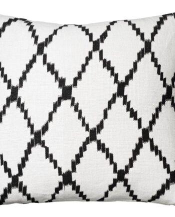 Ikat Kerela kuddfodral 50x50 cm Off white-svart