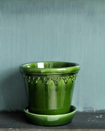 Kruka Köpenhamn 12 cm Grön Ink. Fat