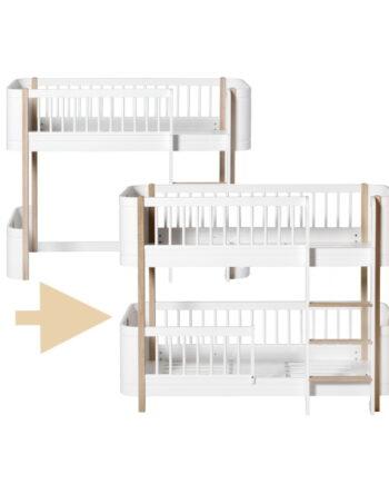 Ombyggnadsset Wood Mini+ loftsäng till våningssäng, Oliver Furniture