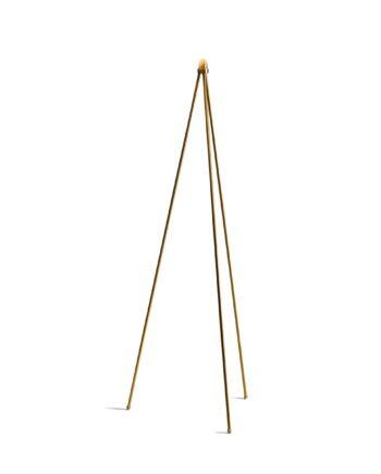 Oslo Wood golvlampa stativ guld