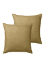 HILDA kuddfodral 2-pack 45x45 cm - ekologisk Khakigrön