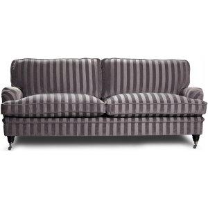 Howard Sir William 3-sits soffa (Dun) - Mobus Silver Stripe