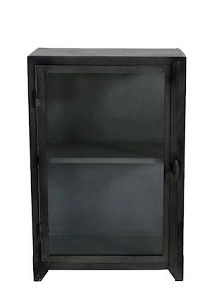 Iron glass cabinet vitrinskåp 1 dörr liten