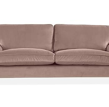 HOWARD LUX 3-sits Soffa Rosa, 3-sits soffor