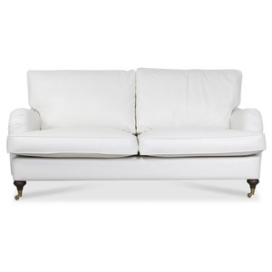 Howard Watford Deluxe 2-sits soffa - Vit PU