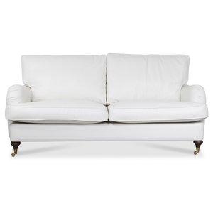 Howard Watford deluxe 3-sits soffa - Vit PU