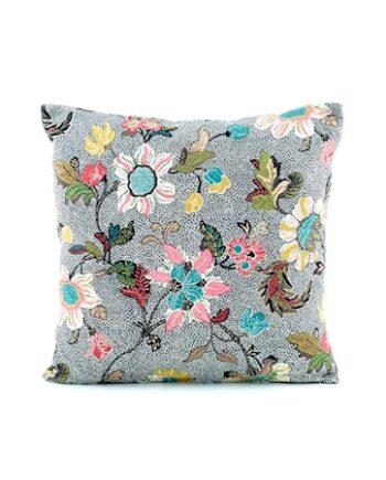 Kuddfodral Flower Linen 50x50 - Grå