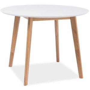 Nordix runt matbord Ø100 cm - Vit/ek