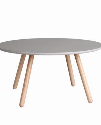 Russel Soffbord Runt Grå/Vitpigmenterad ek 90 cm